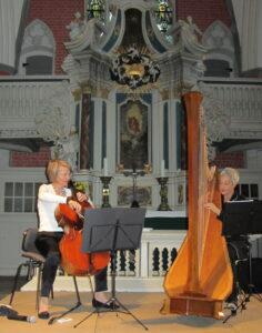 Friederike Fechner, Violoncello und Marina Paccagnella, Harfe Foto: Ines Dähnert
