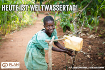 Plan International, Kinderhilfswerk, Wasser Armut Knappheit Wasserversorgung