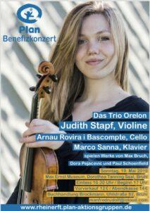 Judith Stapf Benefiz Konzert 2019 Flyer AG Rhein-Erft Brühl Plan International