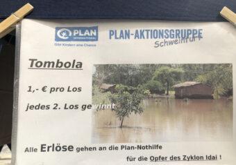 Tombola Preise AG Schweinfurt Plan International, Kinderhilfswerk Idai