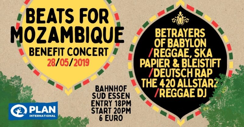 Betrayers of Babylon Benefizkonzert Mozambique Idai 2019 Plan International AG Essen