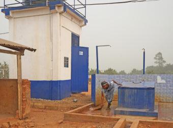 Wassertank von Plan International.