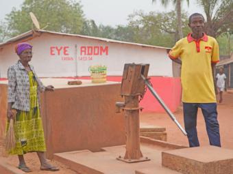 Wasserpumpe in Ghana.